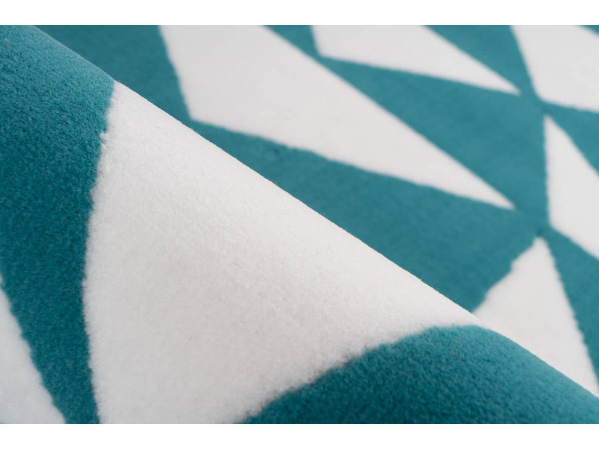 Tapis ZIKA Blanc/ Turquoise 200cm x 290cm4