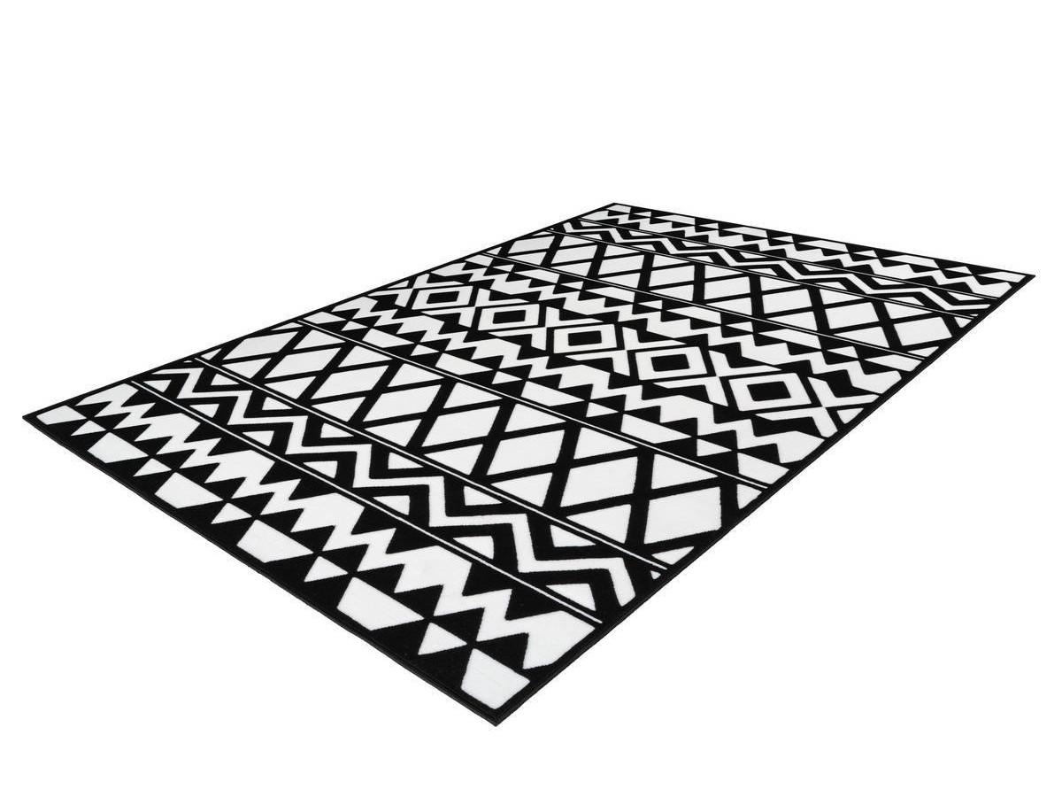 Tapis SAFI Noir / Blanc 120cm x 170cm