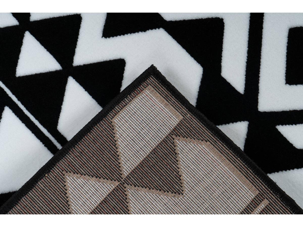 Tapis SAFI Noir / Blanc 120cm x 170cm5