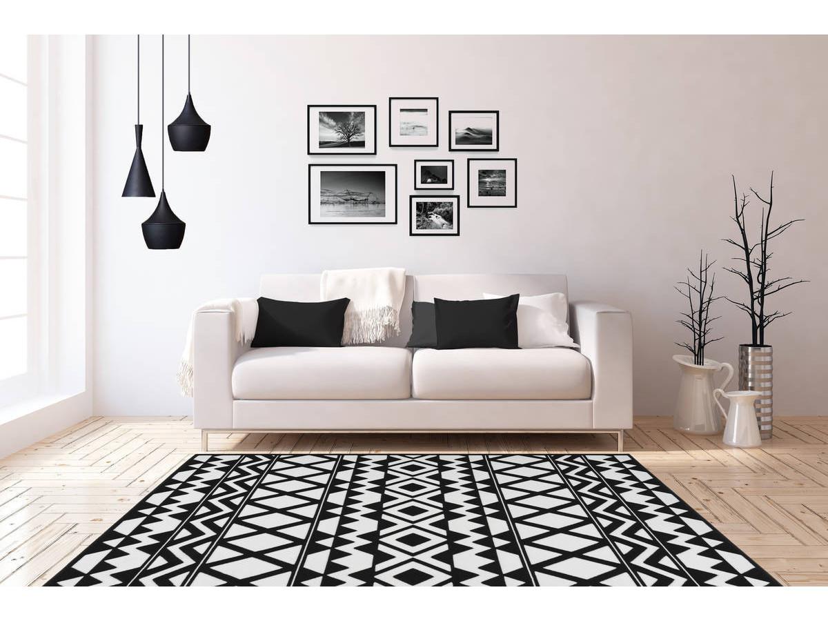 Tapis SAFI Noir / Blanc 80cm x 150cm1