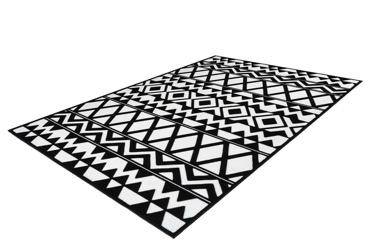 Tapis SAFI Noir / Blanc 80cm x 150cm2