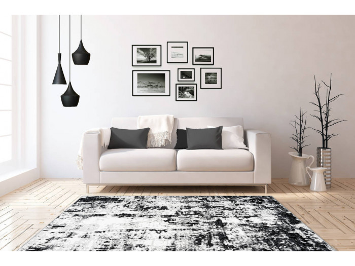 Tapis SANTOR Gris / Blanc 120cm x 170cm1