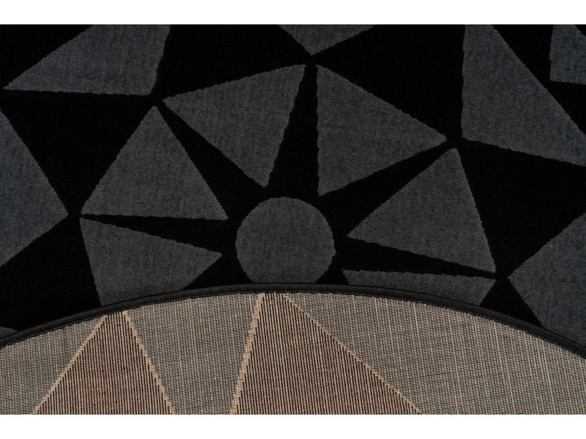 Tapis YOUMKA Gris / Noir Ø 120cm RUND5
