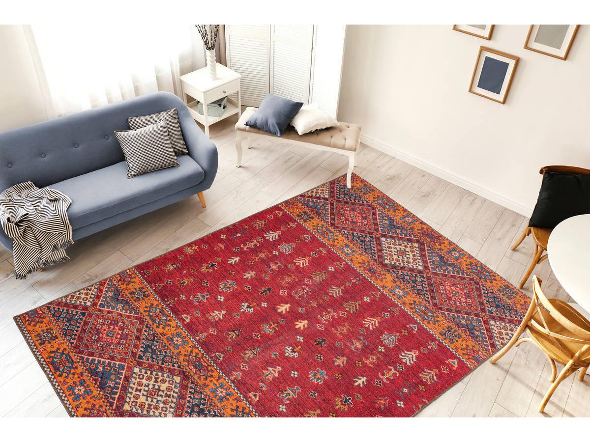 Tapis ASSA Multicolor / Rouge 200cm x 290cm1