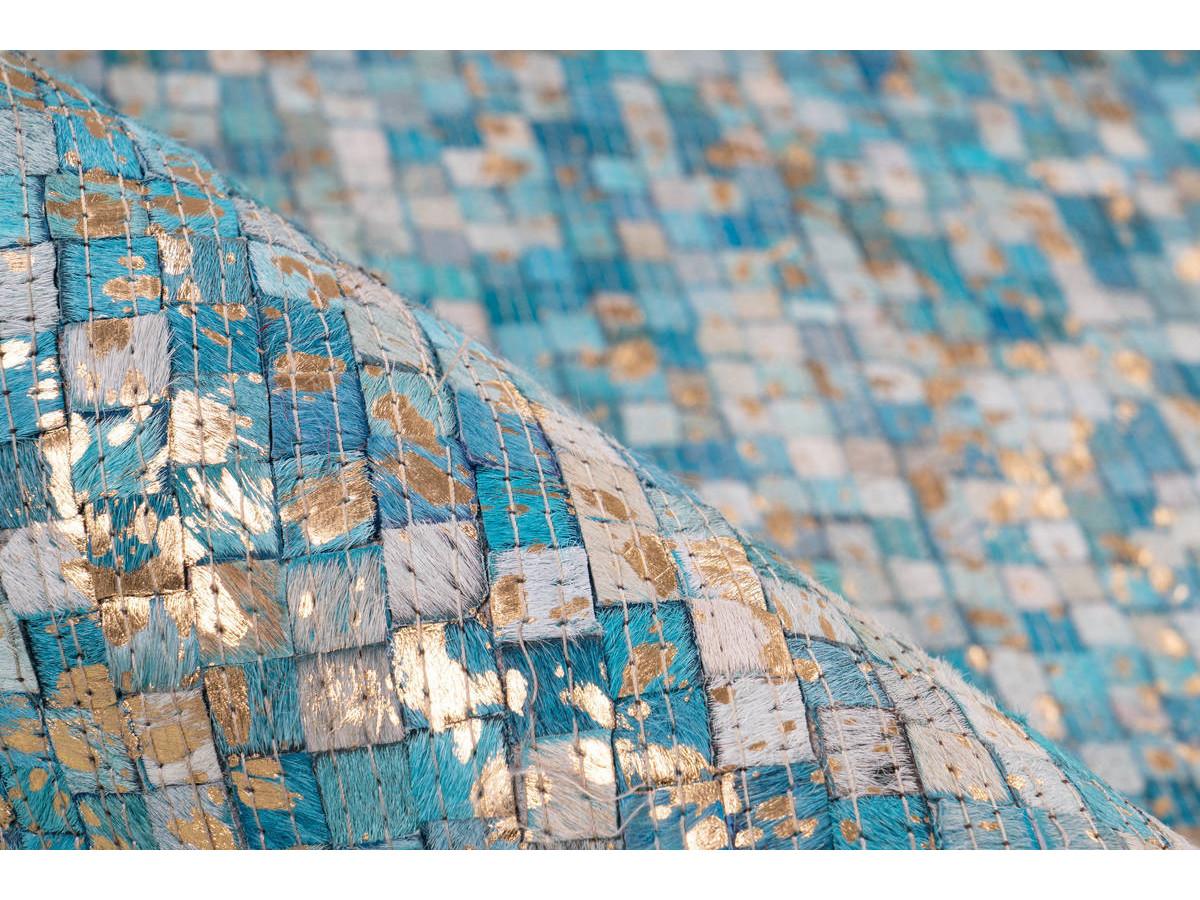 Tapis TORI Turquoise / Doré 160cm x 230cm4