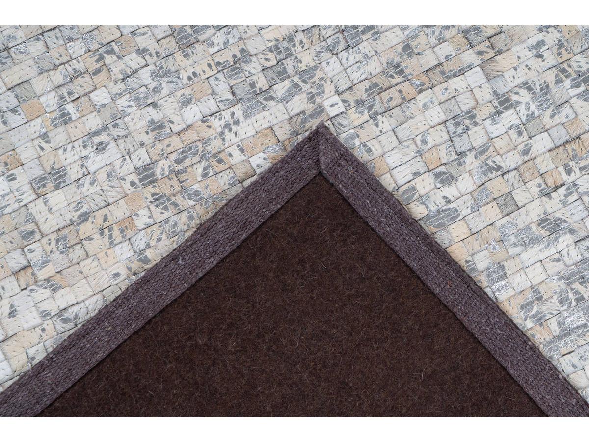 Tapis TORI Blanc/ Argenté 120cm x 170cm5