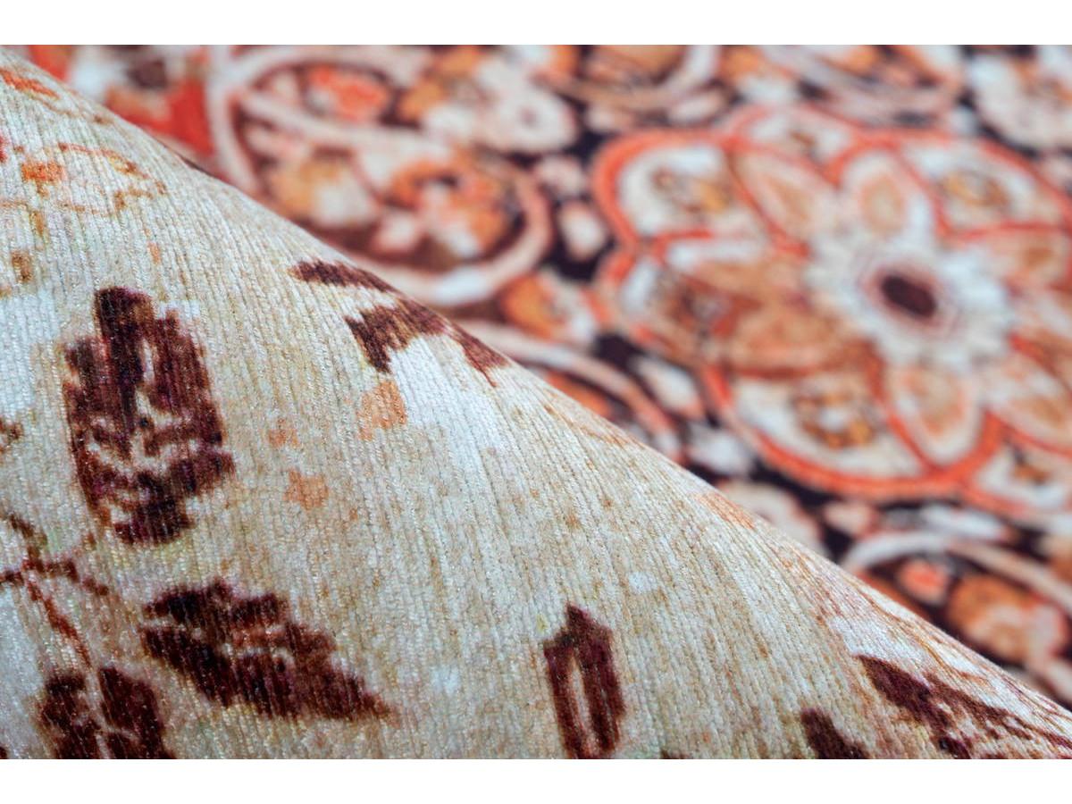 Tapis IDELIA Orange / Beige 80cm x 150cm4