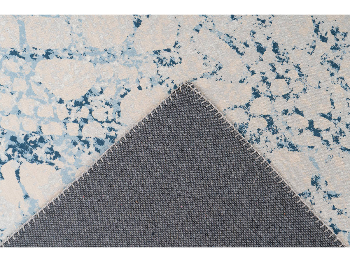 Tapis IDELIA Crème / Bleu 170cm x 240cm5