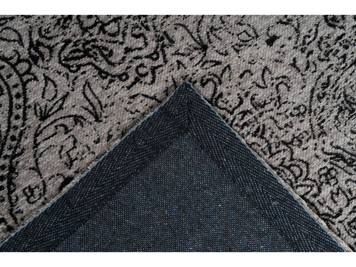 Tapis VINTO Gris / Noir 80cm x 150cm5