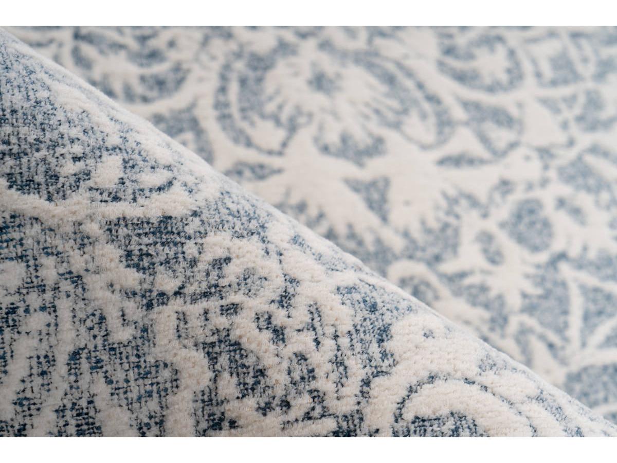 Tapis VINTO Crème / Bleu 80cm x 150cm4