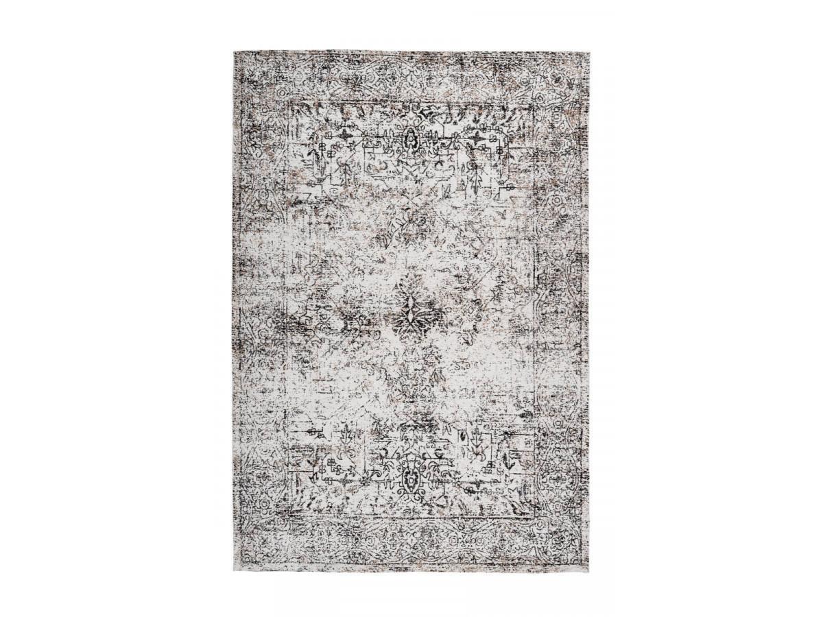 Tapis VINTO Anthracite / Crème 80cm x 150cm3