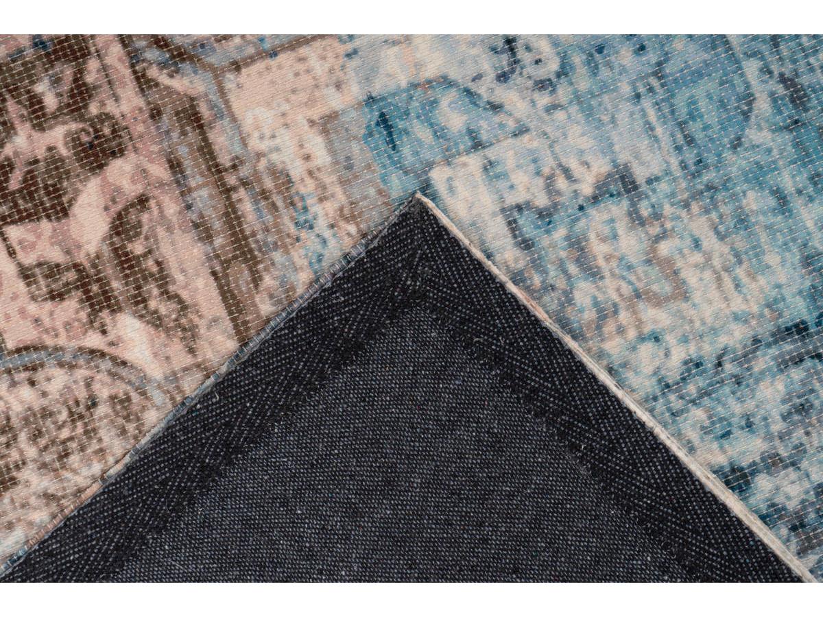 Tapis APACHE Bleu / Marron 160cm x 230cm5