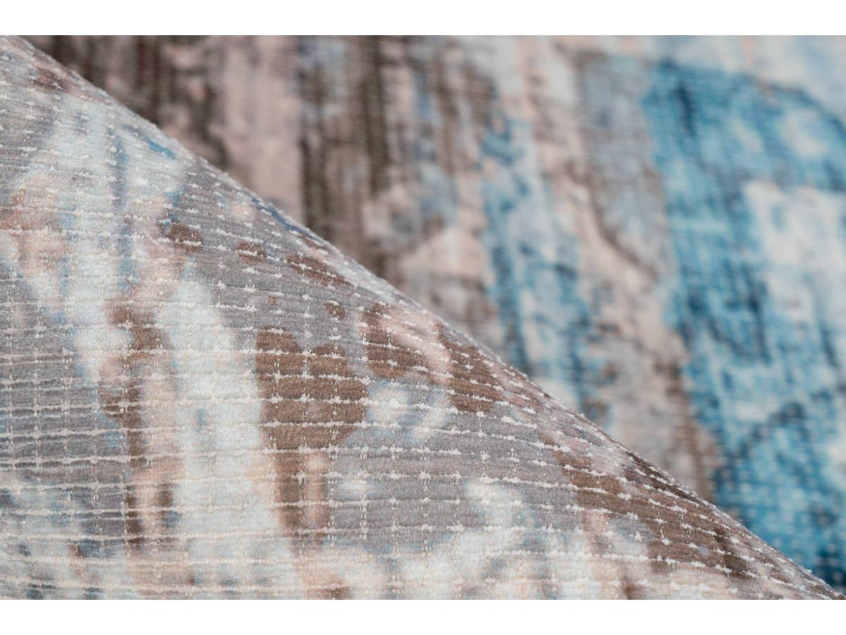 Tapis APACHE Bleu / Marron 240cm x 330cm4