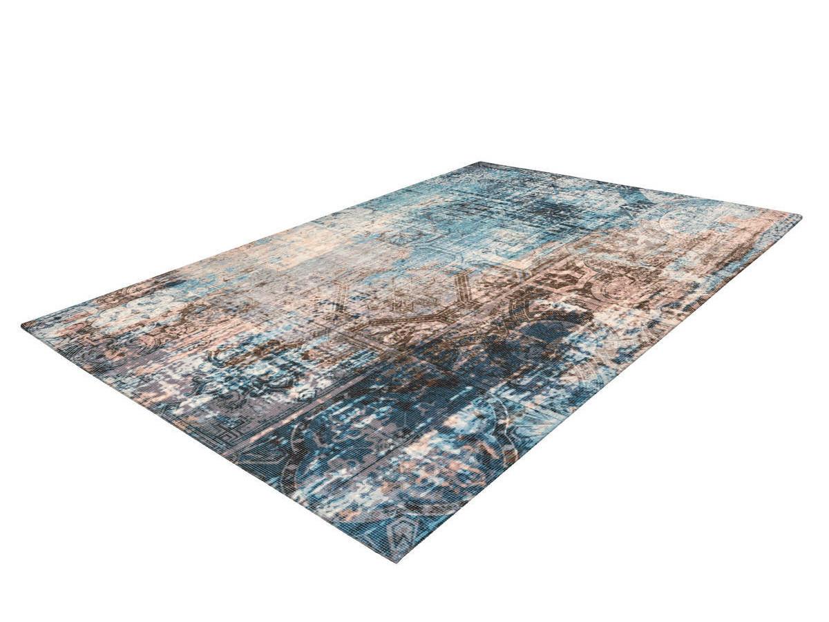 Tapis APACHE Bleu / Marron 80cm x 150cm