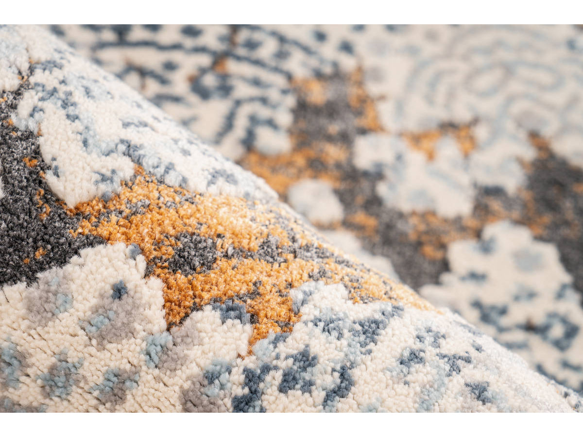 Tapis TENZO Gris / Orange 160cm x 230cm4