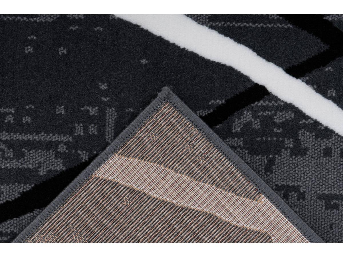 Tapis KRISTA Anthracite / Noir / Blanc 120cm x 170cm5