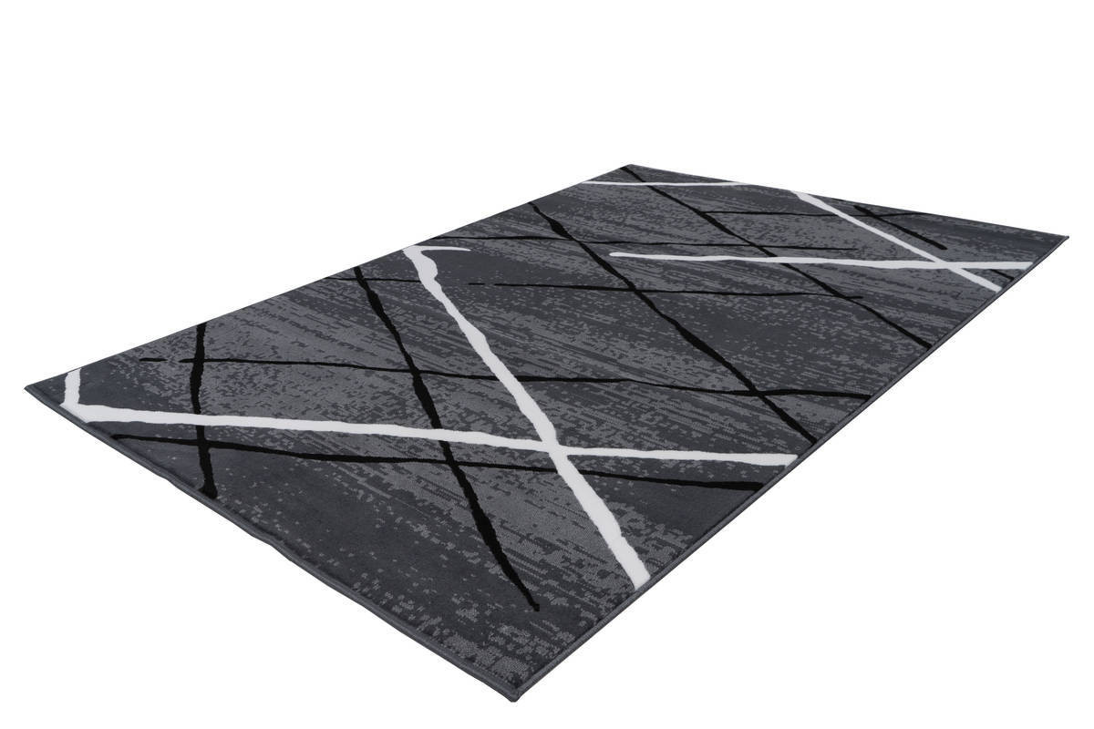 Tapis KRISTA Anthracite / Noir / Blanc 200cm x 290cm2