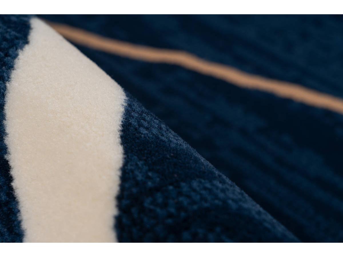Tapis KRISTA Bleu / Beige / Blanc 80cm x 150cm4