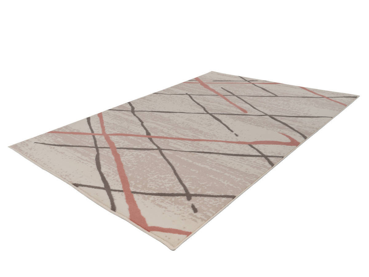 Tapis KRISTA Crème / Marron / Rosé 200cm x 290cm