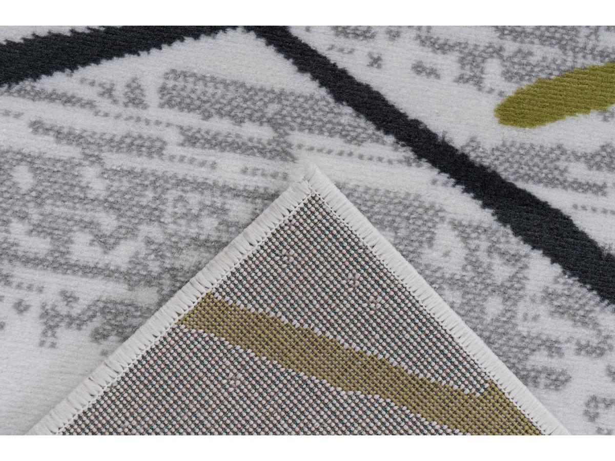 Tapis KRISTA Blanc/ Gris / Kaki 160cm x 230cm5