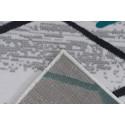 Tapis KRISTA Blanc/ Gris / Turquoise 80cm x 150cm5