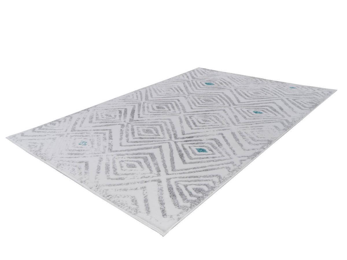 Tapis KRISTA Blanc/ Gris 200cm x 290cm
