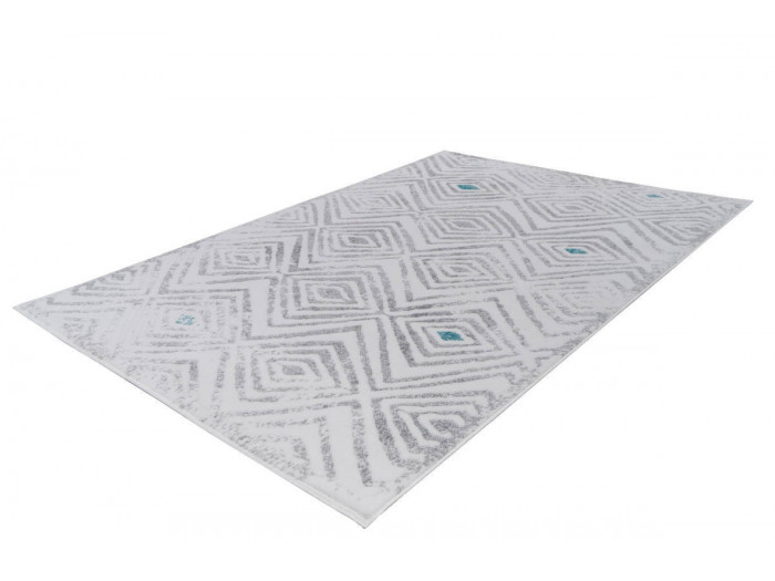Tapis KRISTA Blanc/ Gris 80cm x 150cm