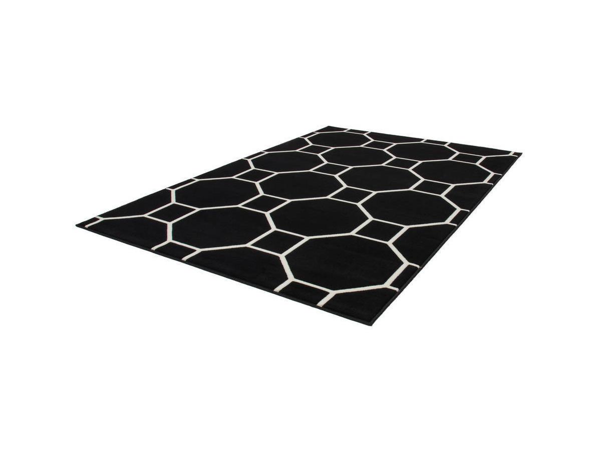 Tapis IRMA Noir / Ivoire 80cm x 150cmx