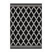 Tapis IRMA Noir / Ivoire 80cm x 150cm