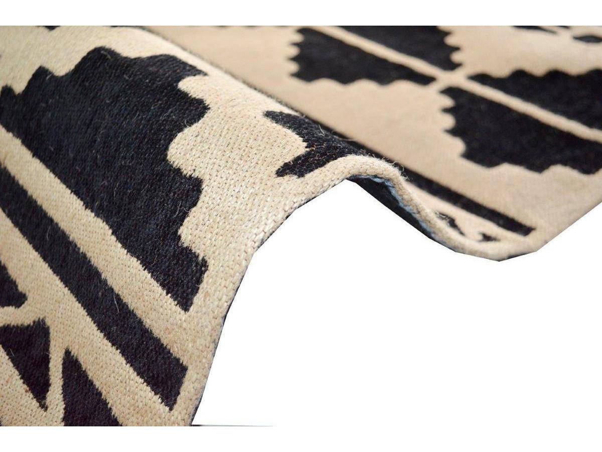 Tapis CUZCO Noir / Blanc 200cm x 290cm