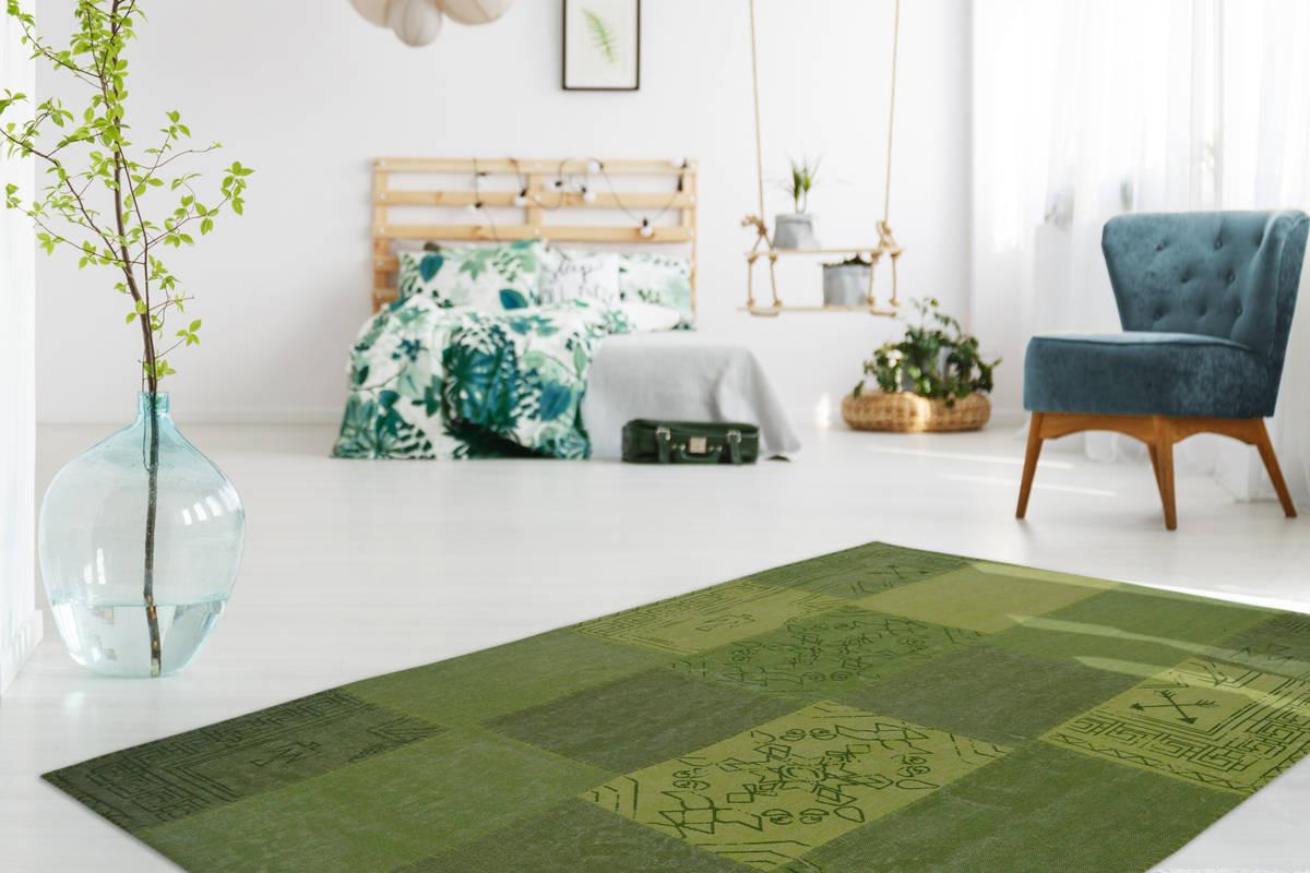 Tapis MISSO Multicolor /Vert 80cm x 150cm