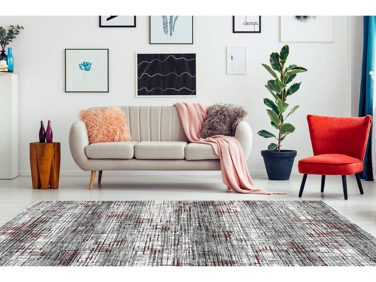 Tapis KRISTA Multicolor / Rouge 200cm x 290cm
