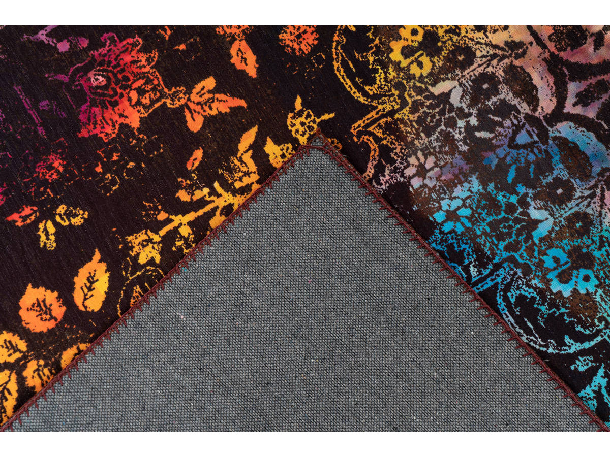Tapis IDELIA Multicolor / Marron 80cm x 150cm