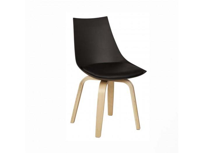 Chaise moderne en coque JONATHAN Noir