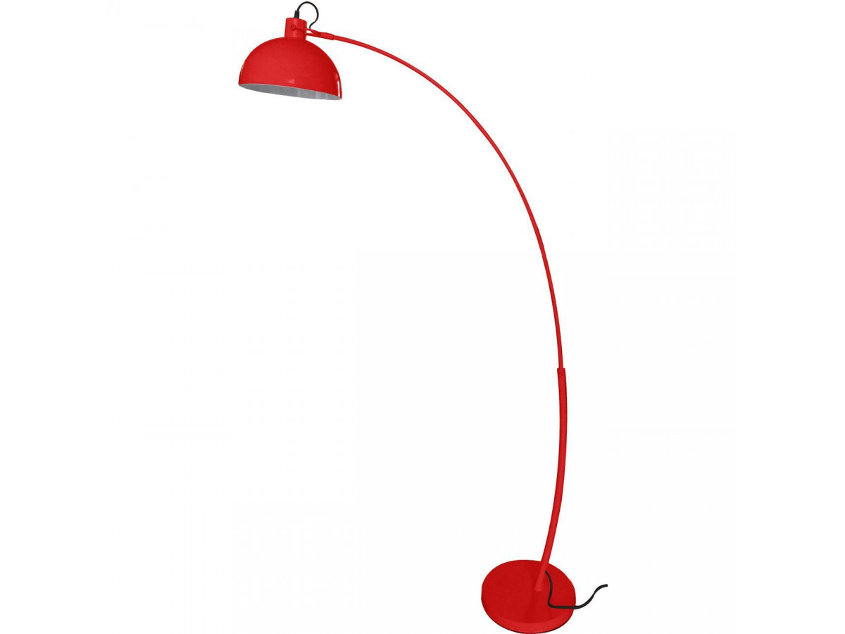 Lampadaire arc en metal branché Frosini Rouge