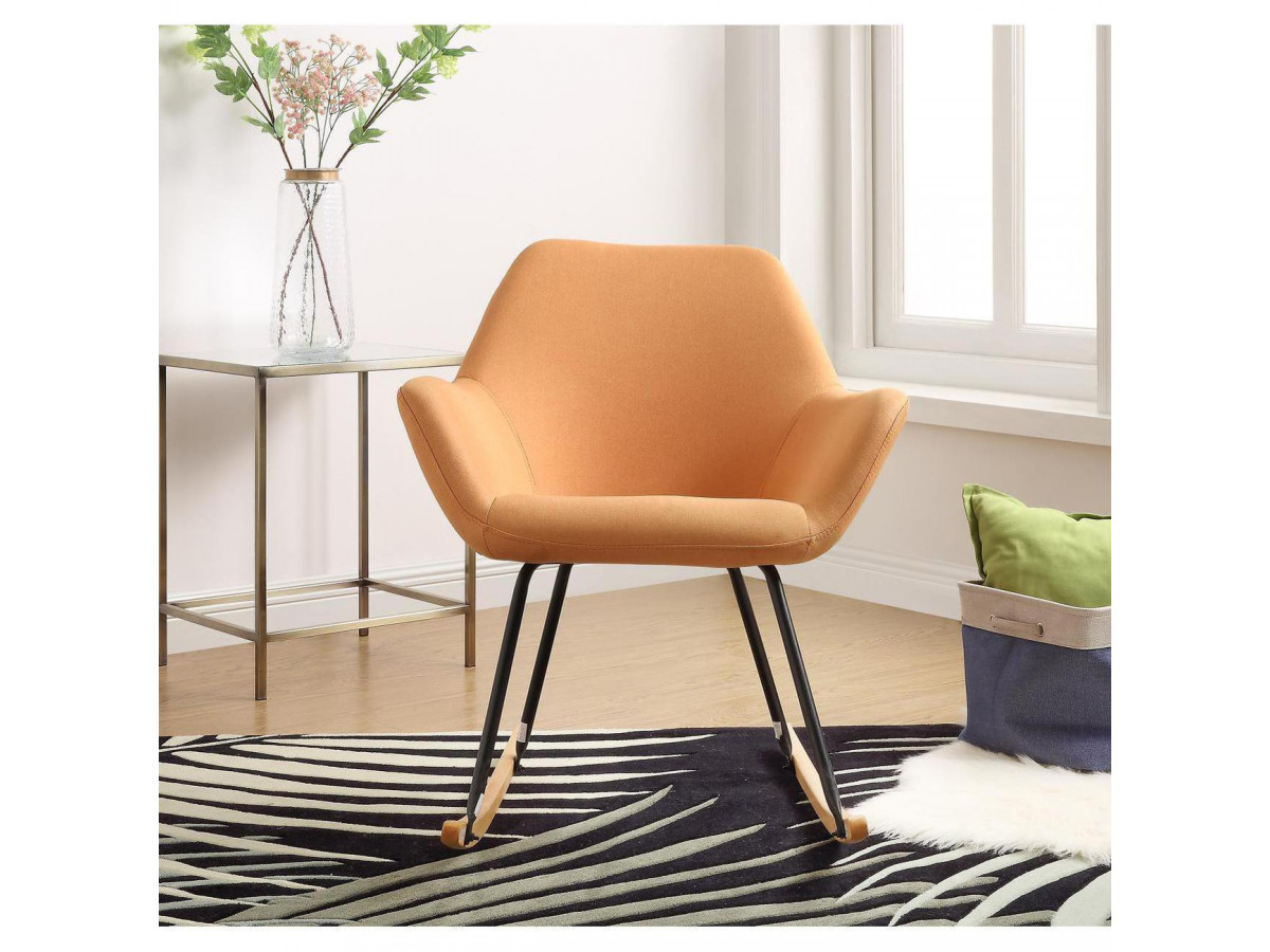 Rocking chair branchee Palma Orange