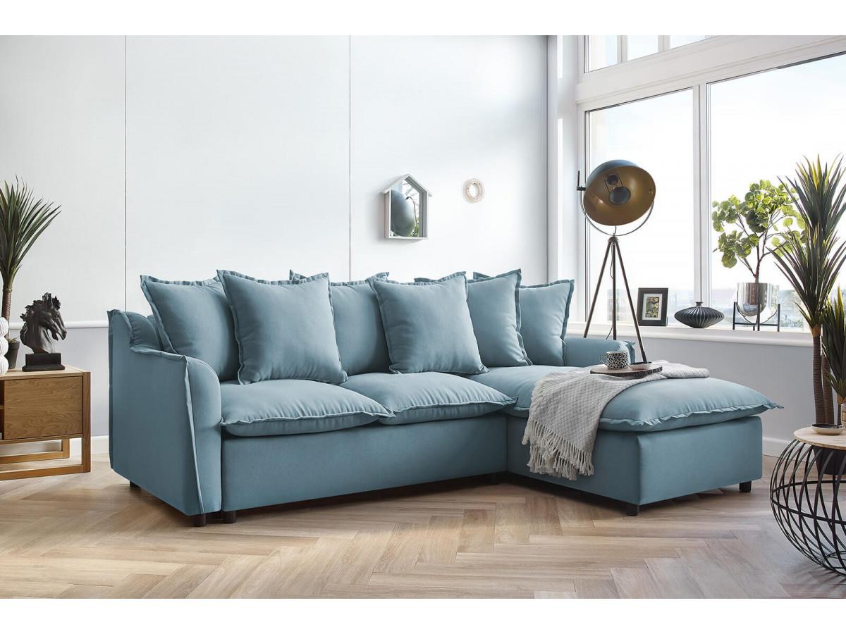 Canapé d'angle convertible coffre Haute Couture MONA