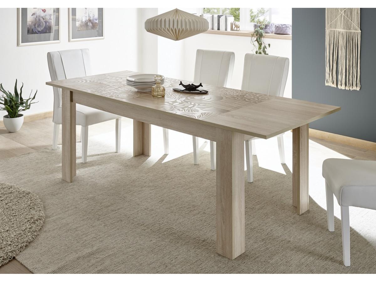 Table 137x90cm avec Allonge déjà inclus de 48cm Serle Chene samoa