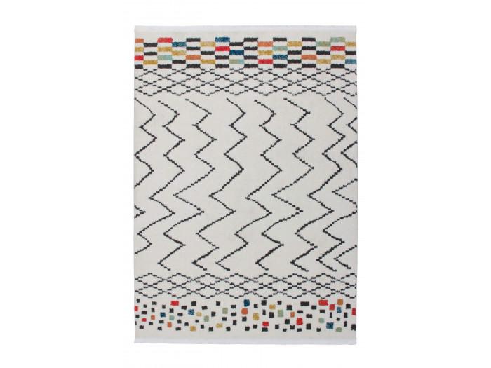 Tapis HIMBA Blanc / Noir / Multicolor 160cm x 230cm