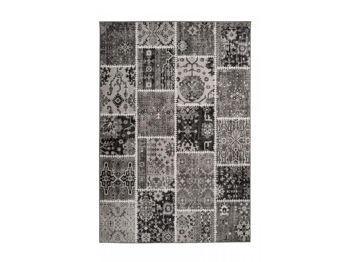 Tapis STINSON Gris clair / Gris foncé 120cm x 180cm