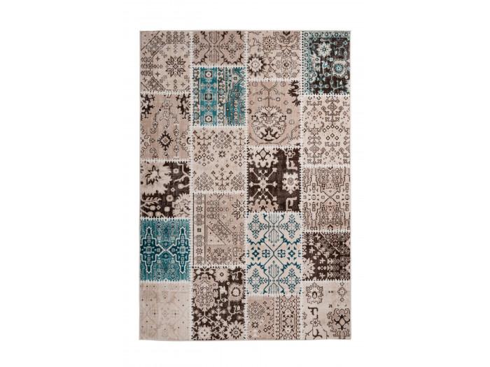Tapis STINSON Multicolor / Marron / Bleu 160cm x 230cm