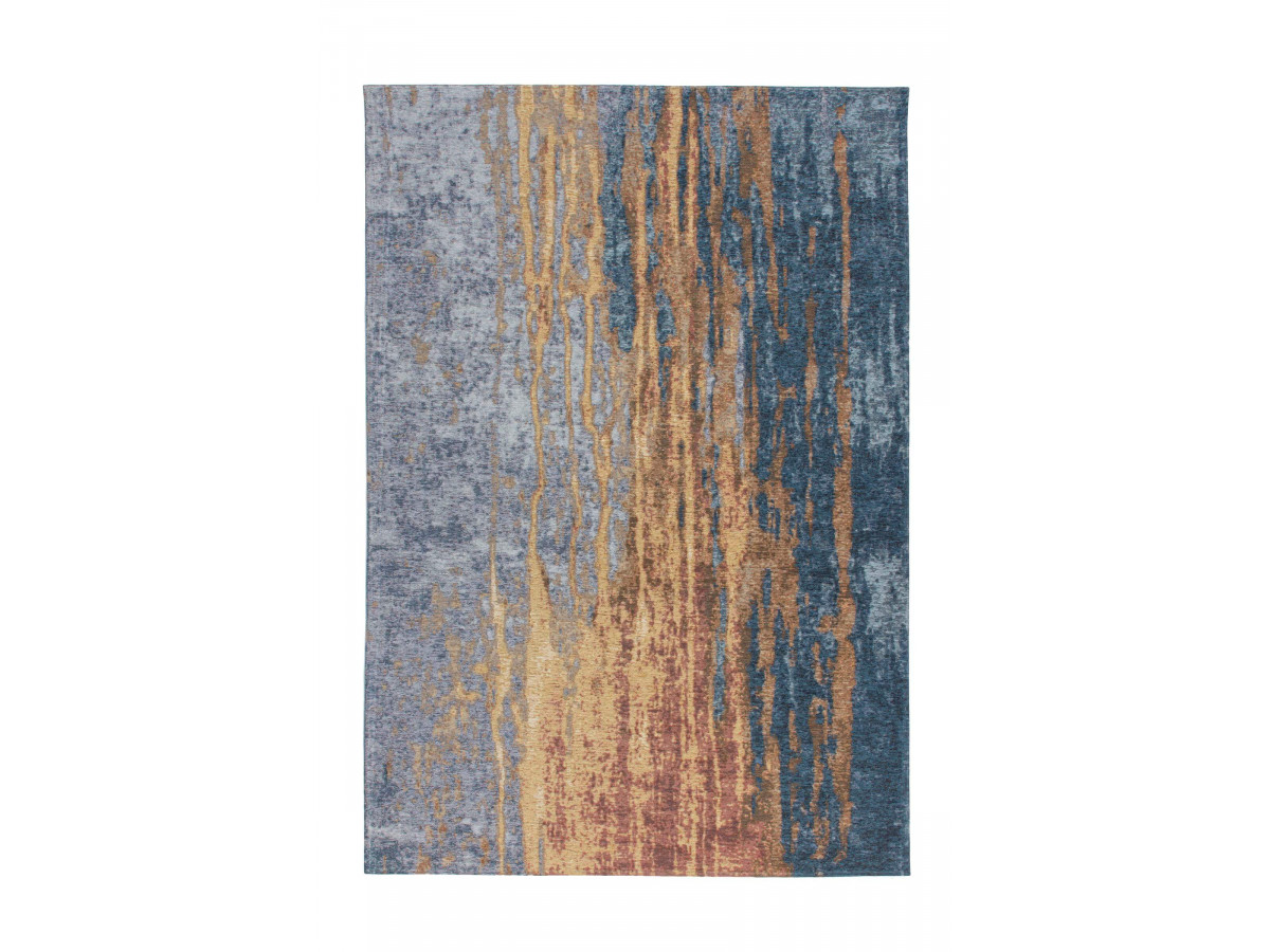 Tapis SALOMA Beige / Bleu 155cm x 230cm