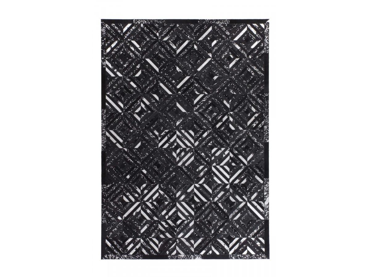 Tapis KHALED Noir/ Argent 80cm x 150cm