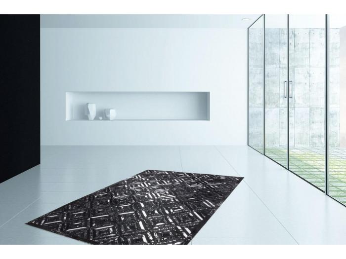 Tapis KHALED Noir/ Argent 160cm x 230cm