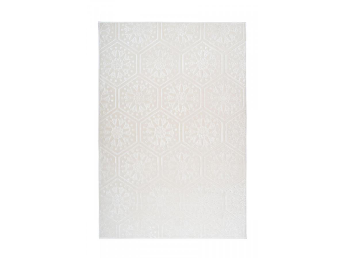 Tapis FLORETTA Blanc 80cm x 150cm