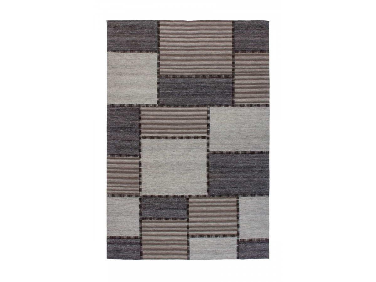 Tapis EASY Gris / Marron 160cm x 230cm