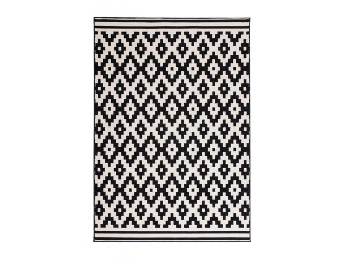 Tapis HUNDIE Noir / Blanc 80cm x 150cm