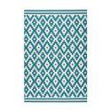 Tapis HUNDIE Blanc / Turquoise 80cm x 150cm