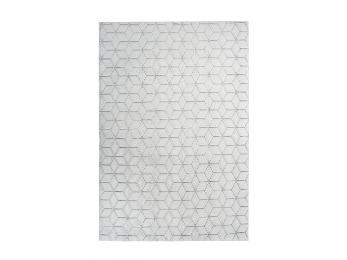 Tapis SIGMA Blanc / Gris 160cm x 230cm
