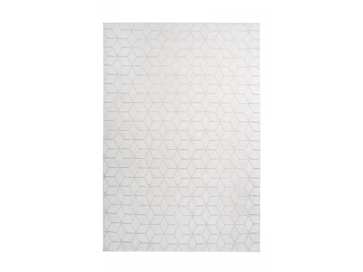 Tapis SIGMA Blanc / Crème 80cm x 150cm